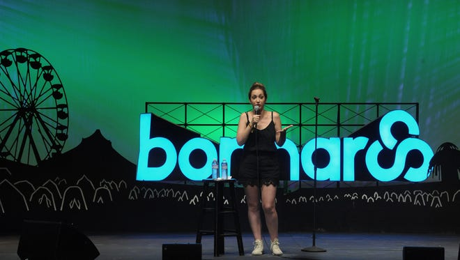 Jamie Lee performs at the Comedy Theatre at the Bonnaroo Music and Arts Festival Thursday June 11, 2015.