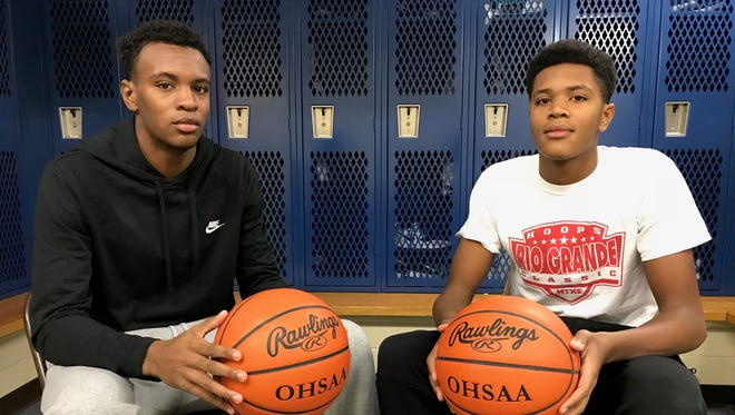 Branden Maughmer (left) and his brother Jayvon Maughmer have been the focal points of Chillicothe's offensive game plans this season. The two are close on and off the court.