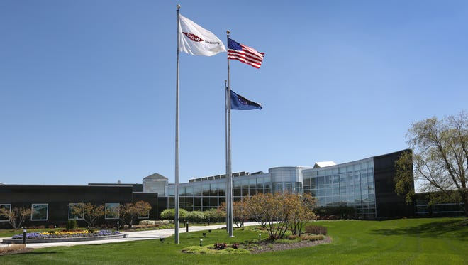 The global headquarters of Dow AgroSciences, 9330 Zionsville Rd., Indianapolis, is shown on Tuesday, April 28, 2015.