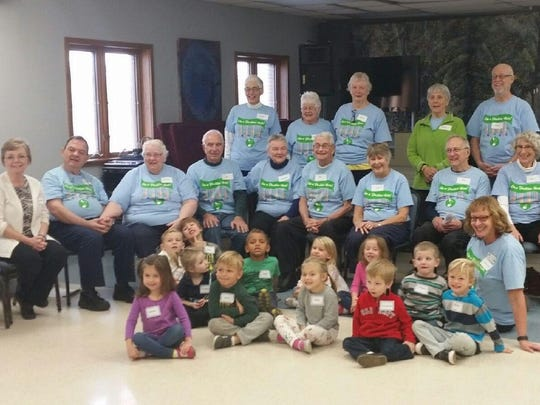 "FVCA hosted the Fox Valley Memory Project musical group ""On A Positive Note"" for a sing-a-long with the preschool class. It was an intergenerational event where students sang, laughed and even did the Hokey Pokey with guests."
