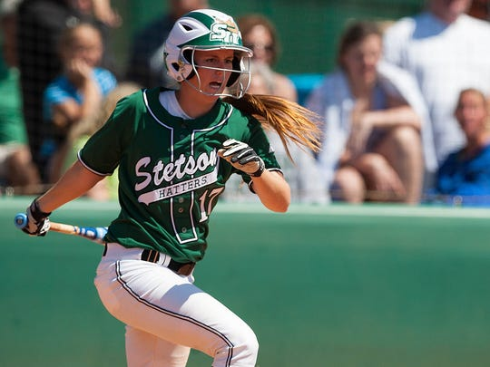 Catcher Jessica Griffin is one of the leading hitters on the Stetson softbal team.