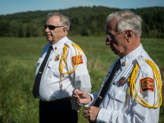 From left, Honorary Chiefs Dave Tillotson and Randy