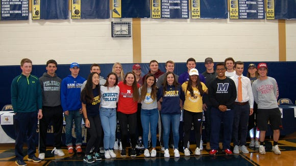 NV/Old Tappan held its Spring Signing Day ceremony Thursday in the school gym. For a full list of the commitments, see below.