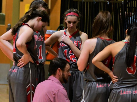 Albany girls basketball coach Tate Thompson took his squad to the second round of the playoffs.