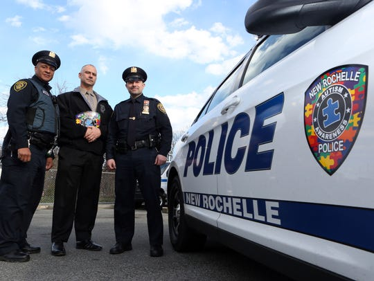 The New Rochelle police started an Autism Patch Challenge,