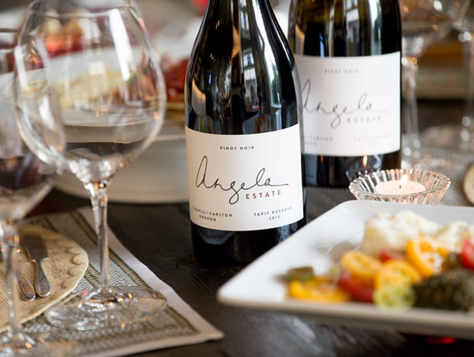 The earthy but richly fruity Angela Estate Pinot Noir