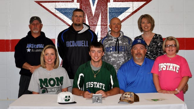 McDowell senior Coleman Arrowood has signed to play college baseball for USC Upstate.