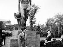 Sparty's unveiling ceremony June 9, 1945.