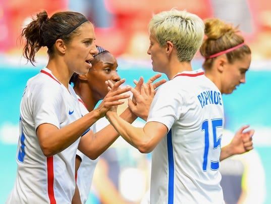 USP OLYMPICS: FOOTBALL-WOMEN'S TEAM-QUARTERFINAL - S OLY BRA