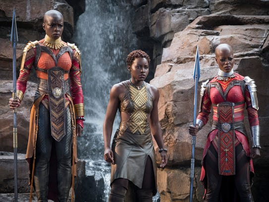 Okoye (Danai Gurira), Nakia (Lupita Nyong'o) and Ayo