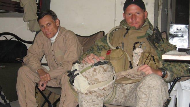 Detroit Free Press writer, Joe Swickard, left and Detroit Free Press photographer, David Gilkey, right, in Iraq. December 2006