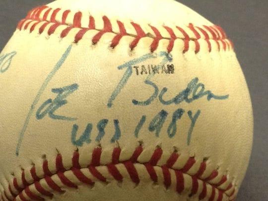 Joe Biden-autographed 1984 baseball.