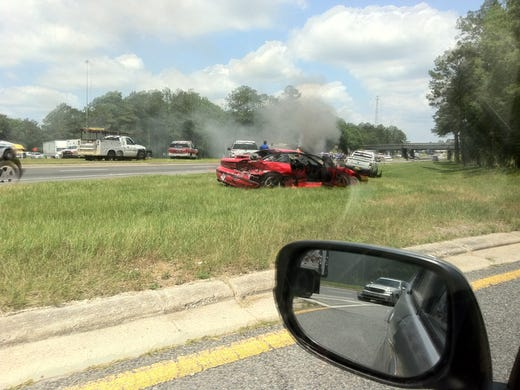 Traffic returns to normal after crash at Hwy 90, I-10 in Midway