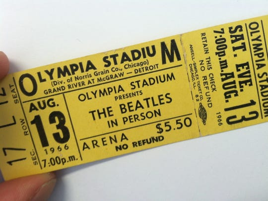 For $5.50, you could catch the Beatles in concert during the band's final Detroit visit, on Aug. 13, 1966.