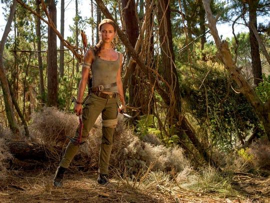 """Alicia Vikander stars in  """"Tomb Raider,"""" playing at"""