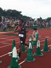 Untalan Middle School's Terrance Camacho Johnson sprinted