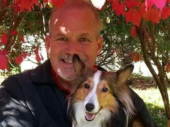County Supervisor Mike Crowley and his dog Roxie