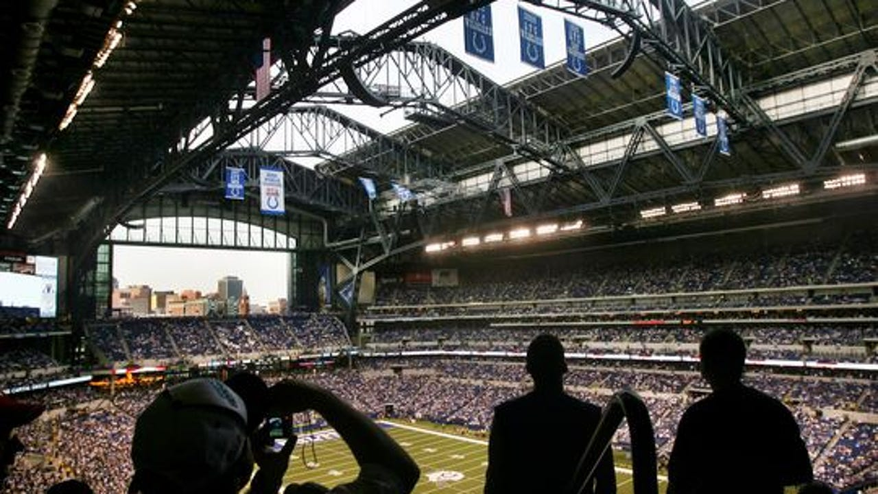 CIB members oversee tax money from Colts luxury suite. Clark Wade / IndyStar
