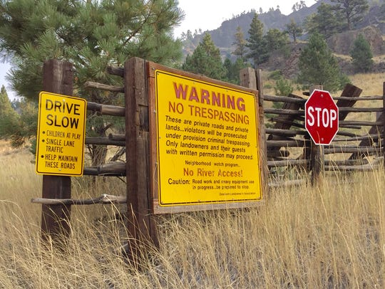 While the sign says no trespassing, landowners say