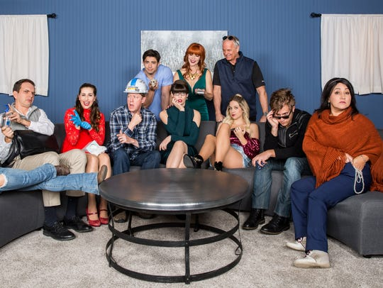"The cast of ""Temporary Insanity,"" a sitcom pilot shot on a dairy outside of Pixley in southern Tulare County."