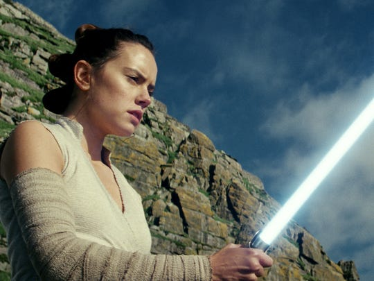 """Star Wars: The Last Jedi"" begins where ""The Force Awakens"" left off, with Rey (Daisy Ridley) having tracked down Luke Skywalker."