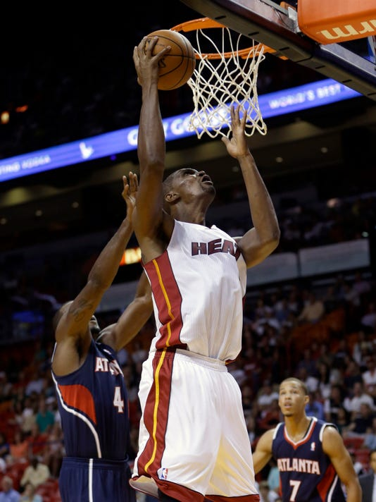 NBA preseason  Chris Bosh scores 21 as Heat top Hawks 3dd6a2c24