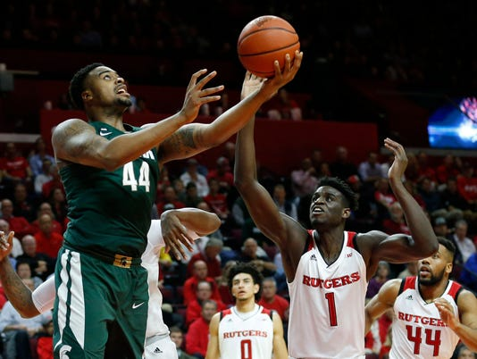 NCAA Basketball: Michigan State at Rutgers