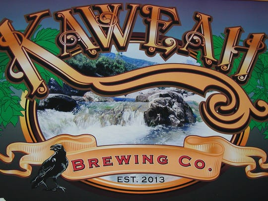 Close up of the brewery logo, featuring a close likeness