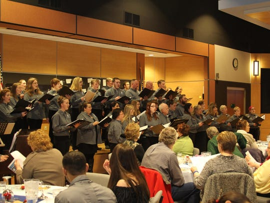 The Great Falls College Community Choir performs during a recent Feast of Sweets event.