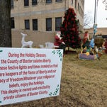 Nativity scene goes up at courthouse - Dec. 2014