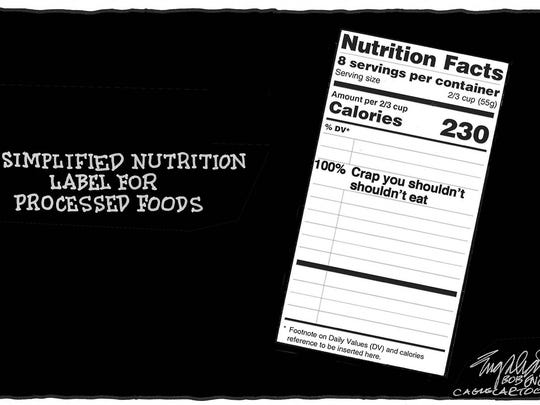 Simplified nutrition label for processed foods.