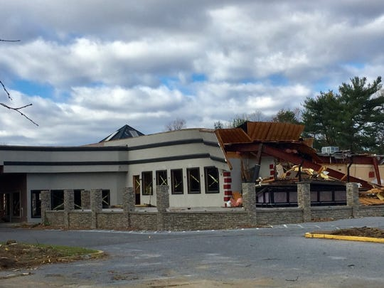 Demolition is underway at the former Coastline Restaurant