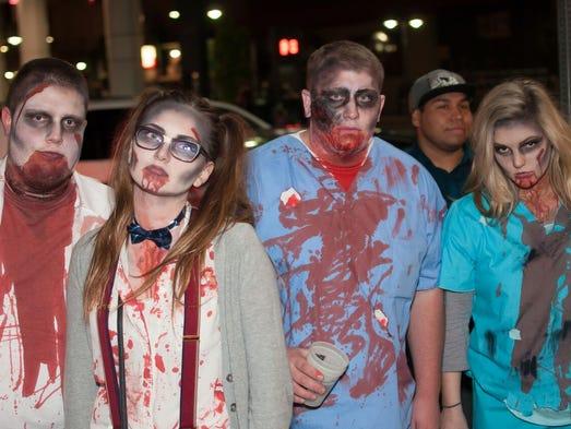 Revelers enjoyed the Zombie Crawl on Oct. 24 throughout