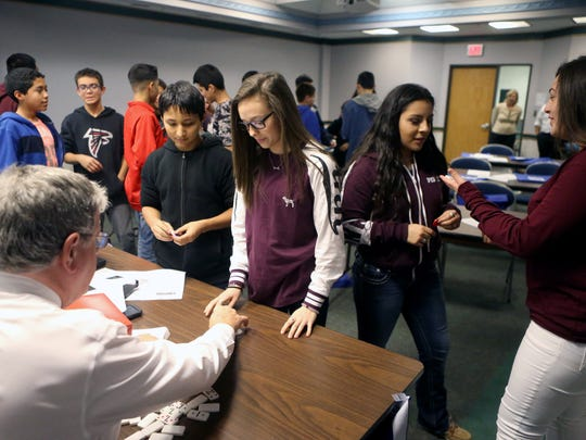 Students take a business class during the Discover Your Direction Conference on Thursday, Feb. 9, 2017, at the Education Service Center Region 2 in Corpus Christi.