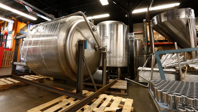 Decadent Brewing Company's equipment located at Half Time Beverage in Mamaroneck.