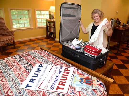 Debbie Taylor, photographed at her Mercersburg home on July 15, 2016, is getting set for her RNC trip. Taylor will be attending the Republican National Convention in Cleveland, Oh., as a delegate.