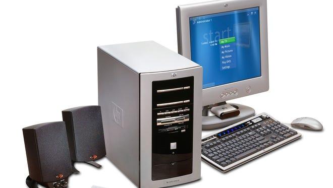 An HP computer running Windows XP from 2002.