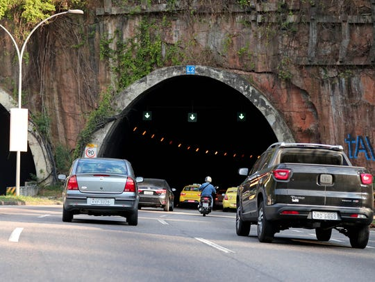 A view of the tunnel were multiple robberies have taken