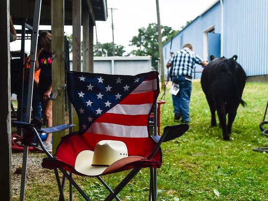A subtle patriotic scene at the Marion County Fair.