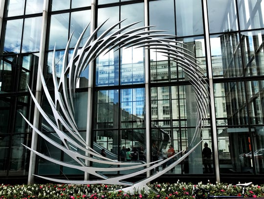 "Santiago Calatrava's ""S2,"" at 111 E. Wisconsin Ave., is part of Sculpture Milwaukee."