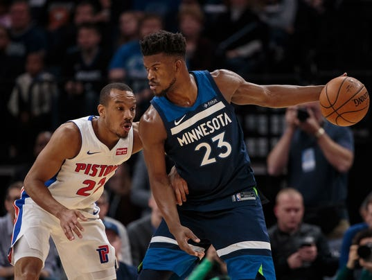 NBA: Detroit Pistons at Minnesota Timberwolves