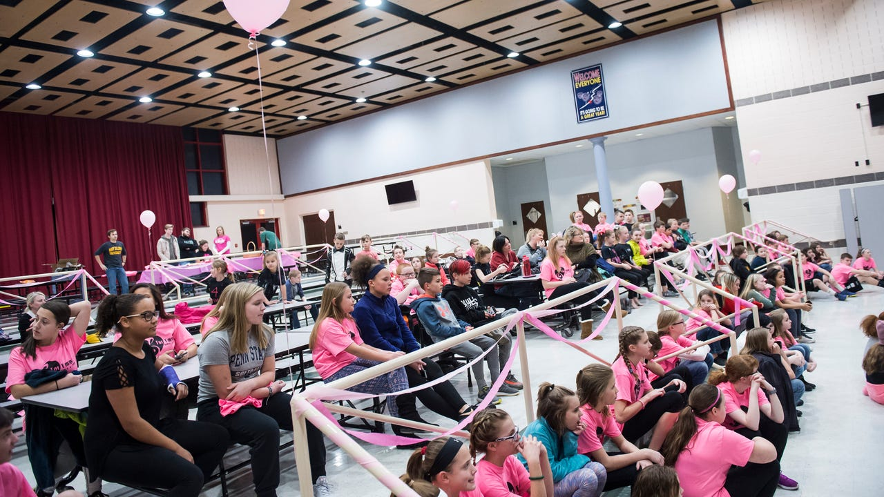 Hanover Middle School held the For Emma Dance-A-Thon 2018, an annual fundraiser for the Emma Martinez Memorial Scholarship, on Friday night.