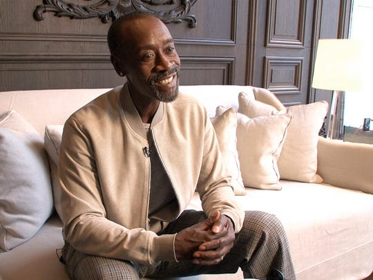 """Don Cheadle is shown during an interview in New York City Thursday, March 24, 2016, in advance of his appearance at the Asbury Park Music in Film Festival where his movie """"Miles Ahead"""" will be screened."""