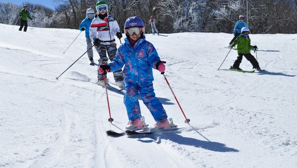 Sugar Mountain Ski Resort has ski and snowboard runs,