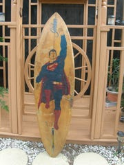 Bud Gardner's Superman surfboard was recently returned