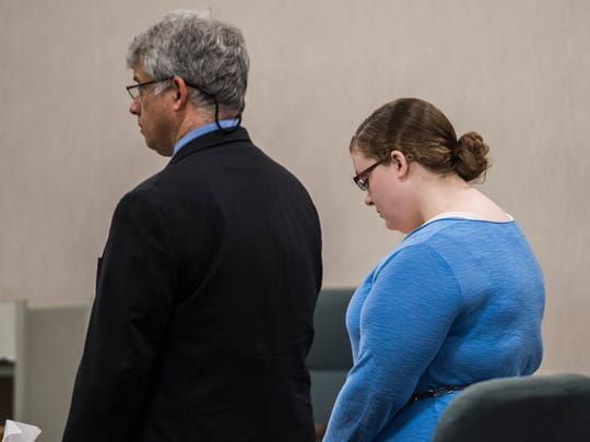 Karri Benoir appears in Vermont District Court in Burlington to plead guilty to causing the crash on Interstate 89 in Richmond that killed EMT Brendon Cousino in 2015.