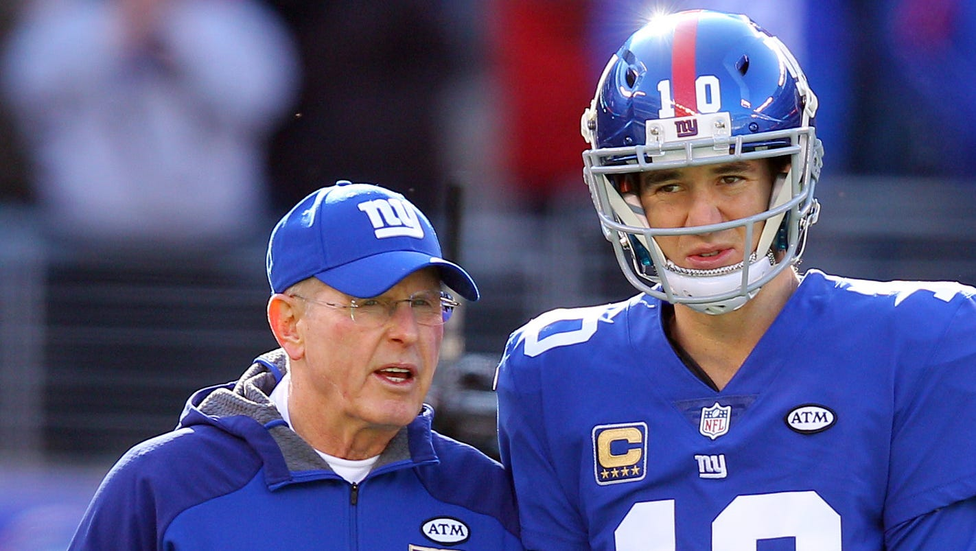 Eli Manning gets emotional on day Giants coach Tom ...