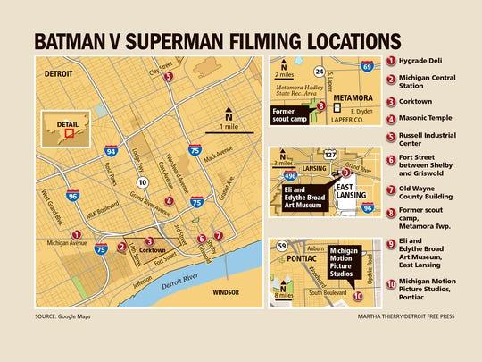 """""""Batman v Superman"""" filming locations"""