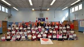 Robert Mascenik School 26 third-grade class Social Action Club students recognized for their food collection for the Have-A-Heart program.