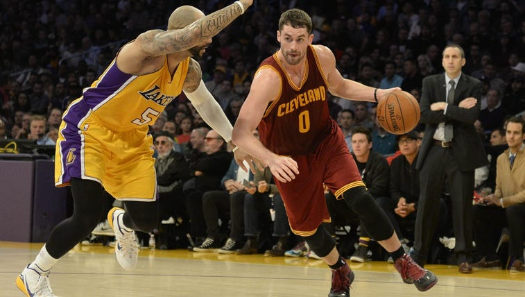 Jan 15, 2015; Los Angeles, CA, USA; Cleveland Cavaliers